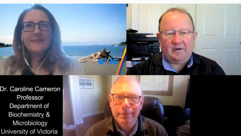 Dr. Caroline Cameron discusses COVID-19 vaccines on the Victoria Rumble Room podcast