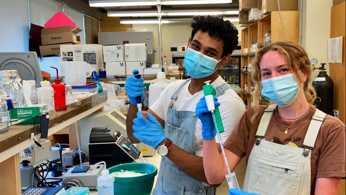 Welcome to our honours students Akash and Bridget, and Congratulations Akash!